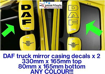 LF CF XF ANY COLOUR!! DAF mirror casing decals x 2 classic graphic stickers