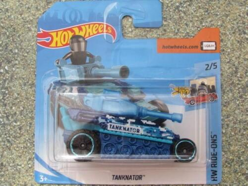 Autos Hot Wheels 2018 #136/365 Tanknator Blau Hw Ride-Ons