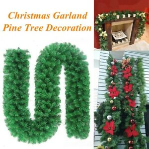 image is loading christmas tree pre lit decorated garland wreath xmas - Green Christmas Garland