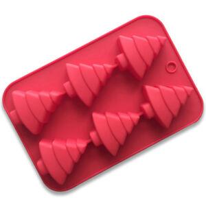 Christmas-Tree-Silicone-Cake-Molds-6-Cavity-3D-Mould-Fondant-Tool-Random-Color