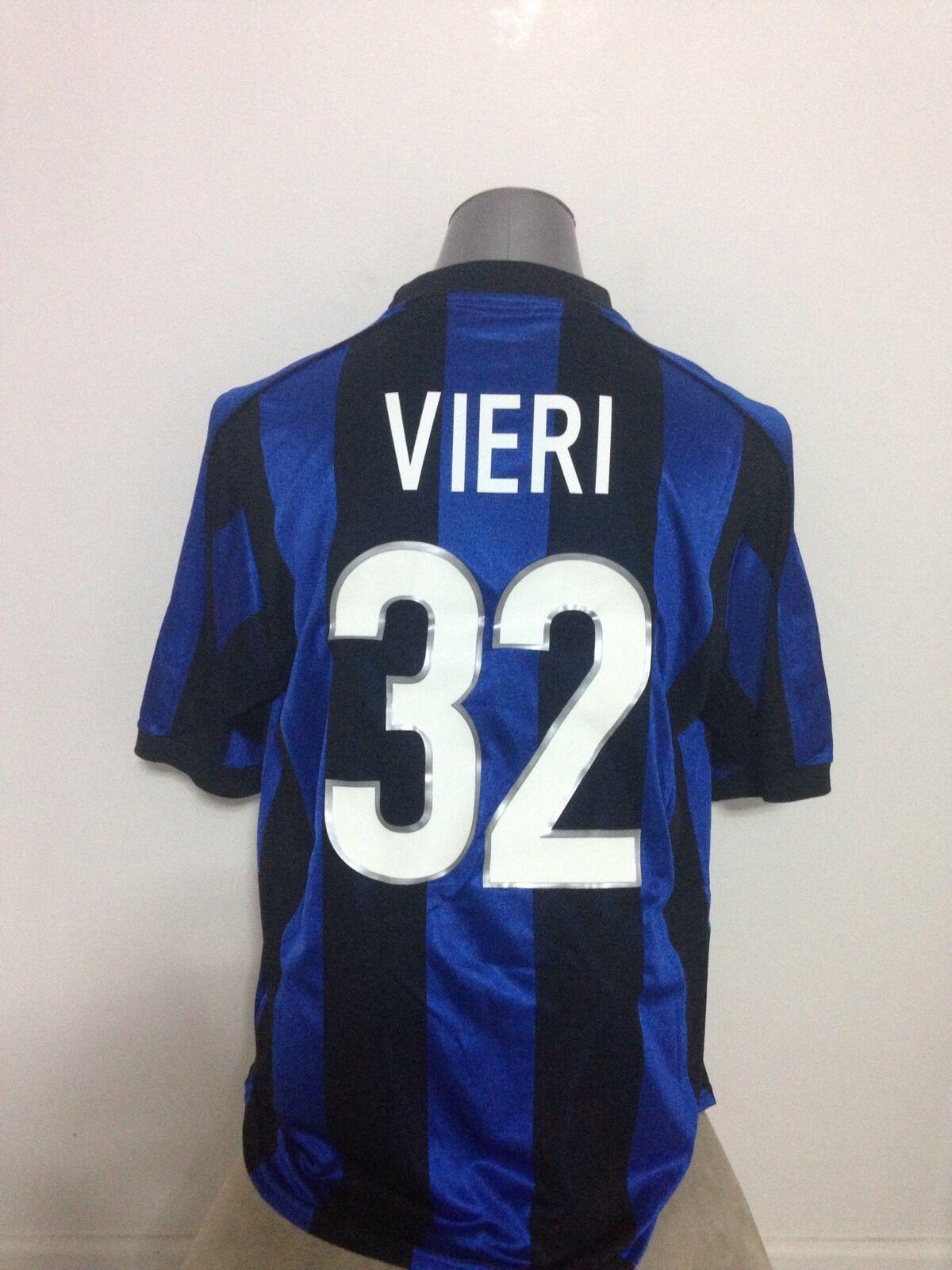 19992000 Inter Milan Vieri  32 Home Jersey L Lazio,Atletico Madrid,Milan,Juve