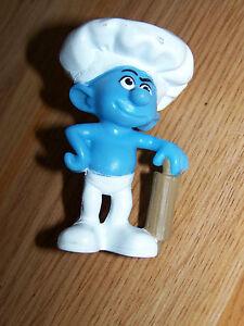 The Smurfs Baker Smurf Doll Pvc Figure From Mcdonalds 2011 Cake Topper Euc Ebay