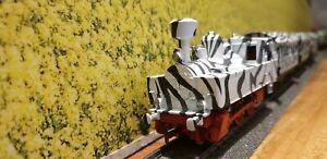 Rara-vez-Marklin-coleccion-h0-parque-safari-Lok-3090-klvm-3-carro-painted