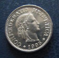 """Münze 10 Rappen Schweizer Franken 1995 """"B"""" aus Umlauf gültiges Zahlungsmittel"""