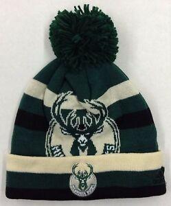 1574cac70c0 NBA Milwaukee Bucks Adidas Cuffed Pom Winter Knit Cap Hat Beanie ...