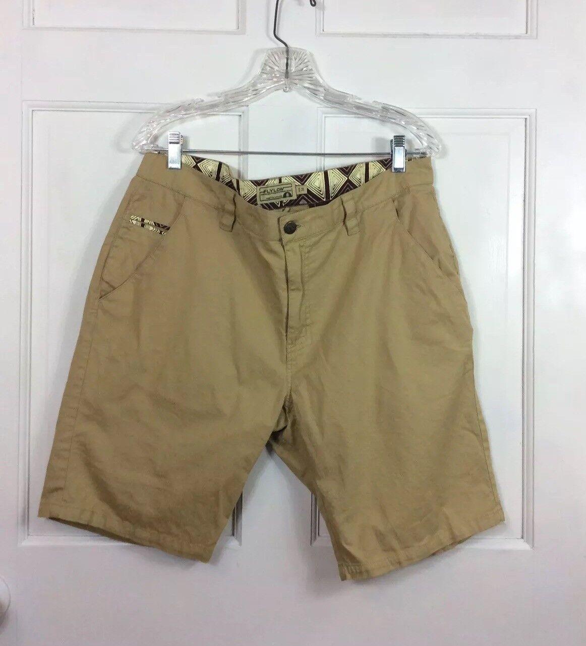 FLYLOW Khaki Shorts Cotton Men's 34 puhvec18003 Shorts