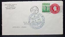 US Cover Postal Stationery 2c Gilroy Sonderstempel Ganzsache ZuF Brief Lot-5921