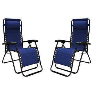 Charmant Image Is Loading Zero Gravity Reclining Outdoor Lounge Chair 2 Pack