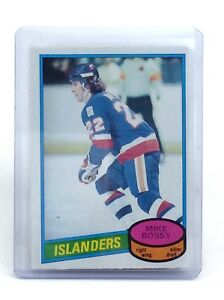 1980-1981-Mike-Bossy-25-New-York-Islanders-OPC-O-Pee-Chee-Ice-Hockey-Card-H594