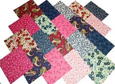 """40 5"""" Quilting Fabric Squares DANCING PINKS and BLUES/BUY IT NOW!"""