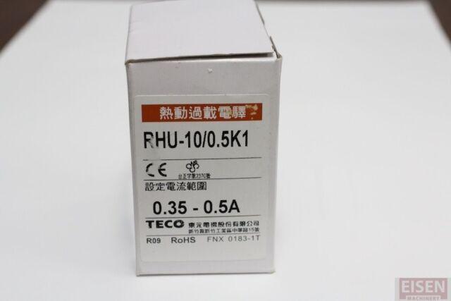TECO RHU-10/0.5K1 thermal overload relay, Amp Range:0.35~0.5A,TAIAN RH-10E/0.37C