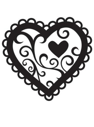 "Embossing Folder 4.25/""X5.75/""-Valentine Hearts"