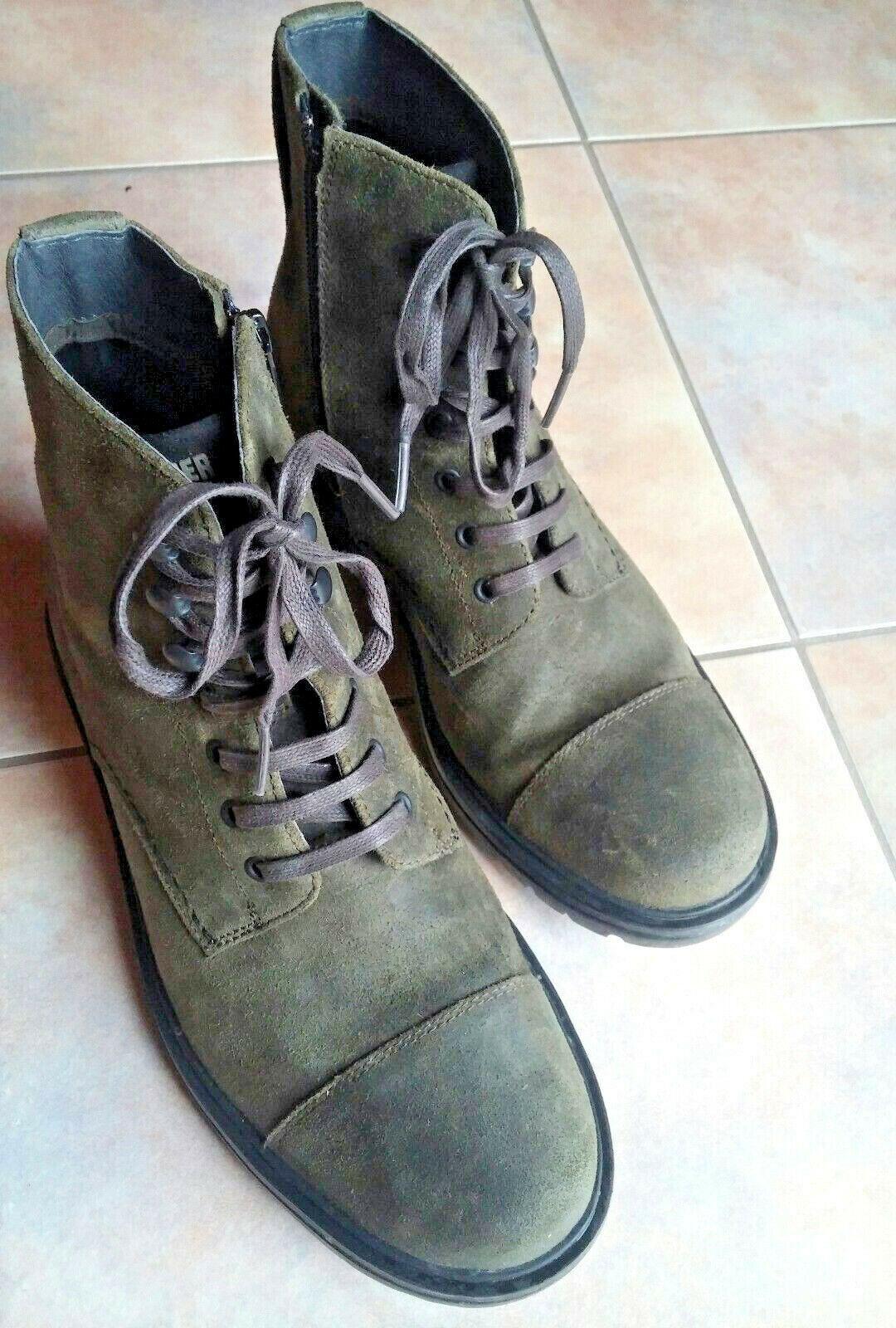 Stiefel Stiefel = CAMPER = Gr.40 = Kalbsleder = dunkelgrün = neuw. m. Karton