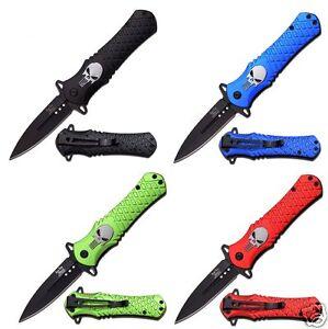 Dark Side Blades federunterstütztes Messer Einhandmesser Punisher DS-A014BK