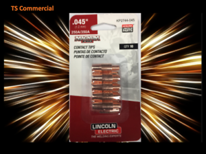 Lincoln Electric KP2744-045 Copper Plus Contact Tip 350A.045 10 pack