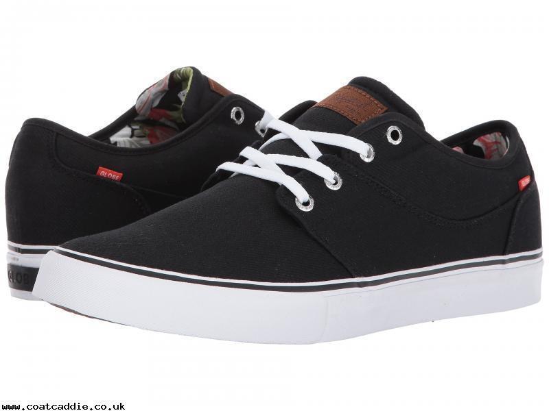 GLOBE pour homme chaussures nouveau-Mahalo-noir blanc Motif floral