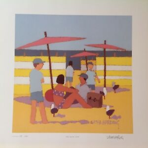 SASHA-HARDING-LTD-EDN-PRINT-039-Sand-Sea-amp-Shade-039-Signed-numbered-New-Unframed