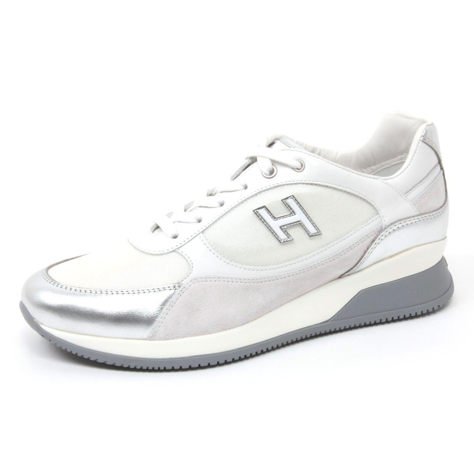 b4650 sneaker donna hogan elective tenuta in vetrina silver shoe woman