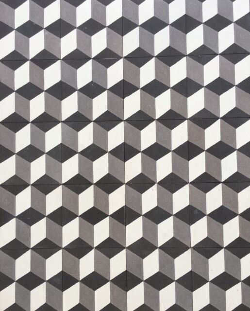 X Hexagonal Dimensional Encaustic Cement Tile Floor And Wall - 3 dimensional floors