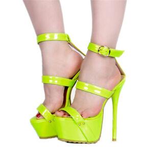 Womens-High-Heels-Platform-Sandals-Ankle-Strap-Shoes-Stilettos