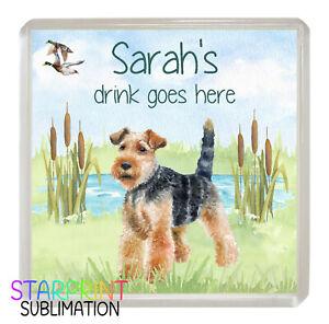 Personalised PUG Coaster Drinks Mat Novelty Dog Gift Lovely Present Idea