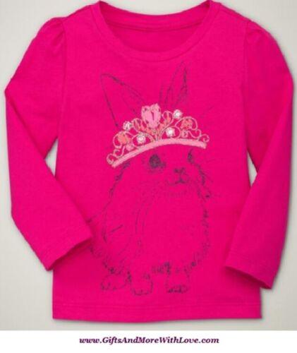 Baby Gap NWT Claret Pink BUNNY TIARA RABBIT PRINCESS DRESS TOP SHIRT 12 18 24 2T