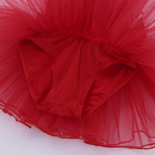 Girls Sequins Dance Dress Ballet Tutu Skirt Modern Jazz Latin Dancewear Costumes