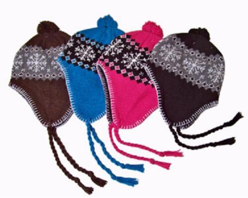 Incas bonnet casquette norvégiennes Hiver Bonnet Népal ski bonnet cagoule de ski pompon Bonnet