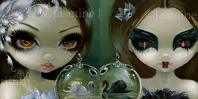 Faces of Faery 193 and 201 Jasmine Becket-Griffith Art SIGNED Pair of 6x6 PRINTS