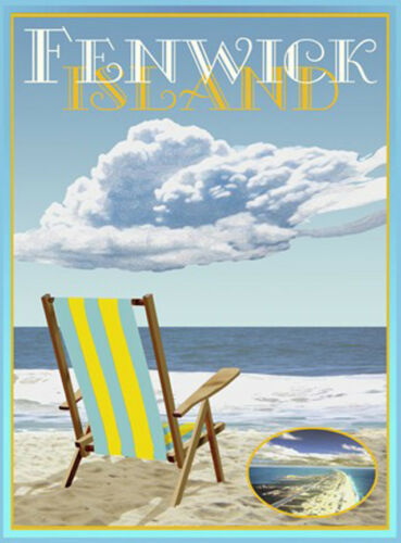Vintage Art Deco Style Travel Poster-by Aurelio Grisanty Fenwick Island Chair