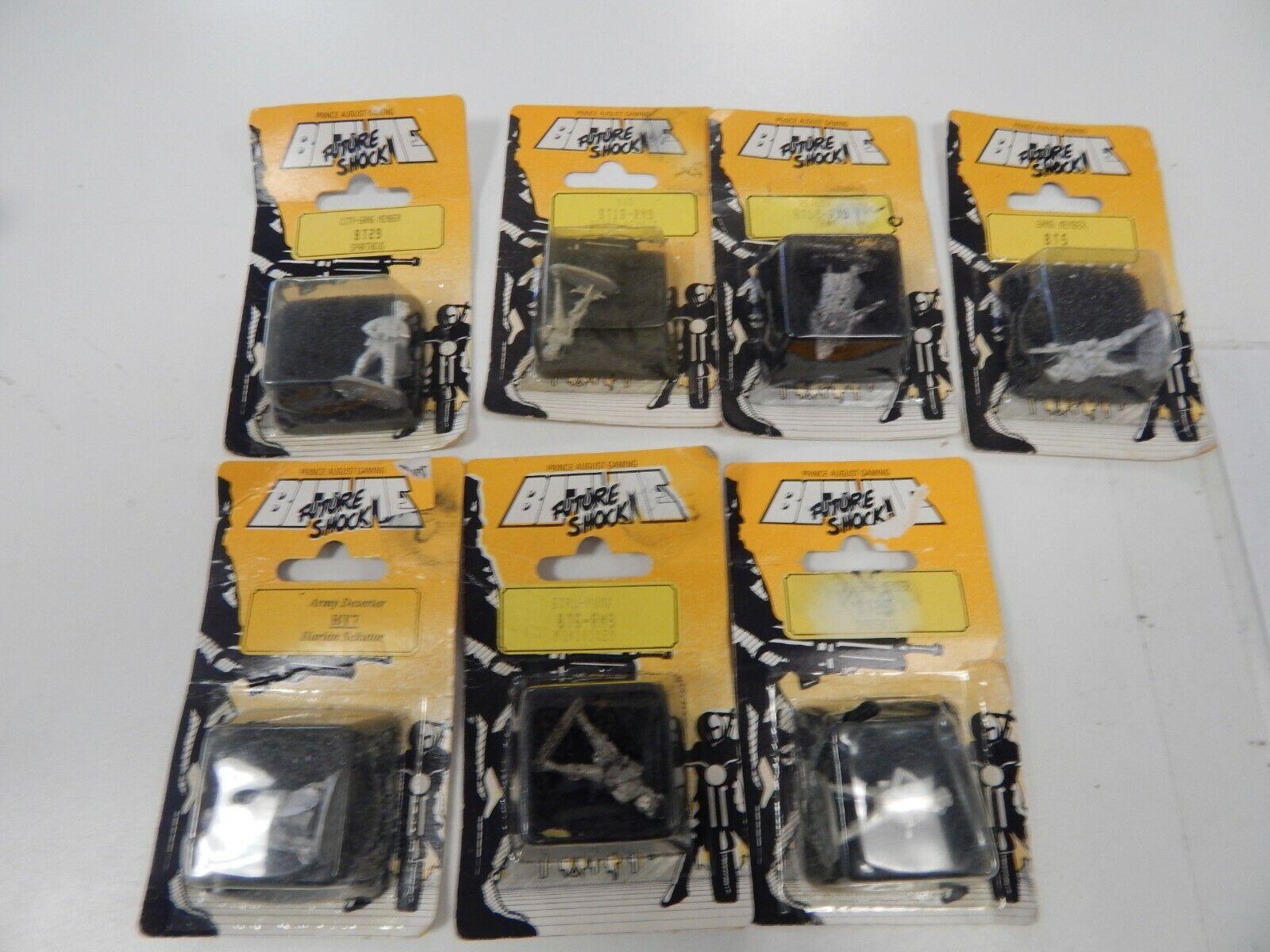Bitume Future Shock 28mm metal figures x 7
