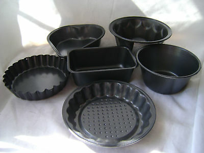 Heart Flan Aromatic Character And Agreeable Taste Oblong New 3 Or 6 Non Stick Grey Mini Cake Bake Ware Tins Round