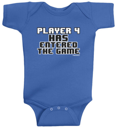 Threadrock Baby Player 4 Has Entered the Game Infant Bodysuit Funny Gamer