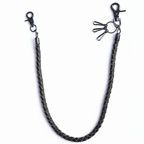 Men/'s Hip-hop Biker Trucker Punk PU Leather Chain Keychain Jean Wallet Chain