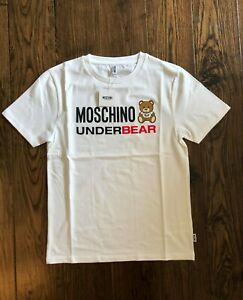 Moschino-Underbear-Logo-White-T-Shirt-EU-Small-DUSTBAG-INCLUDED