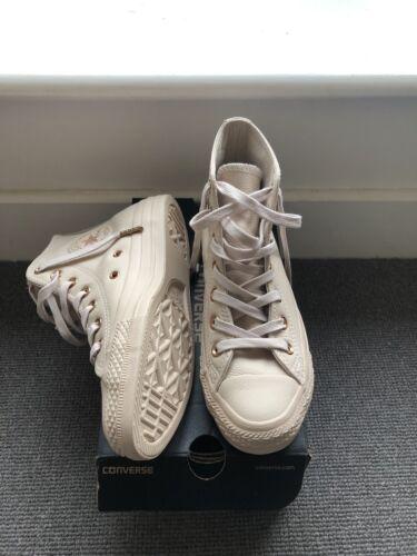Tomaia Size 4 Rise Dollar brandnew Converse e Sand Gold alta in 5 pelle rvwxFAqUrp