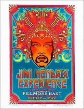 Jimi Hendrix 1968 Fillmore Poster Alt Design New Giclee Signed David Byrd