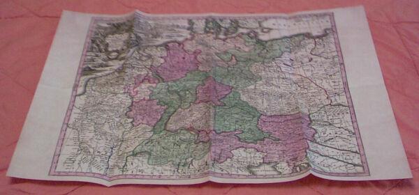 Die Postrouten Auf Einer Karte 1680 - Replikat