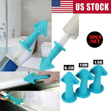 3 in 1 Silicone Caulking Finisher Tool Nozzle Spatulas Filler Spreader Tool US