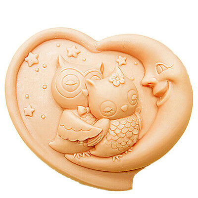 silicone soap molds for handmade Craft DIY bird two owls 143