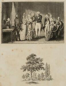 Chodowiecki (1726-1801). la regale prussiano famiglia; pressione grafico 1