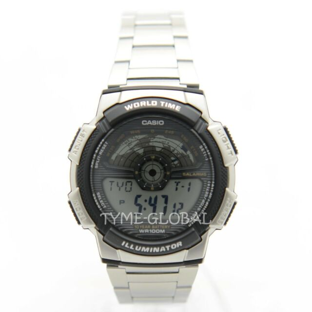 Casio AE-1100WD-1A Digital Stainless Steel Watch