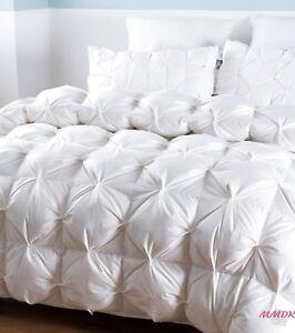 100 Goose Down Blanket Comforter Duvet Bedding Soft Filler