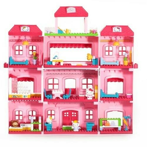 NEW     Hello Kitty Grand Hotel Mega Bloks pieces with Free Shpping