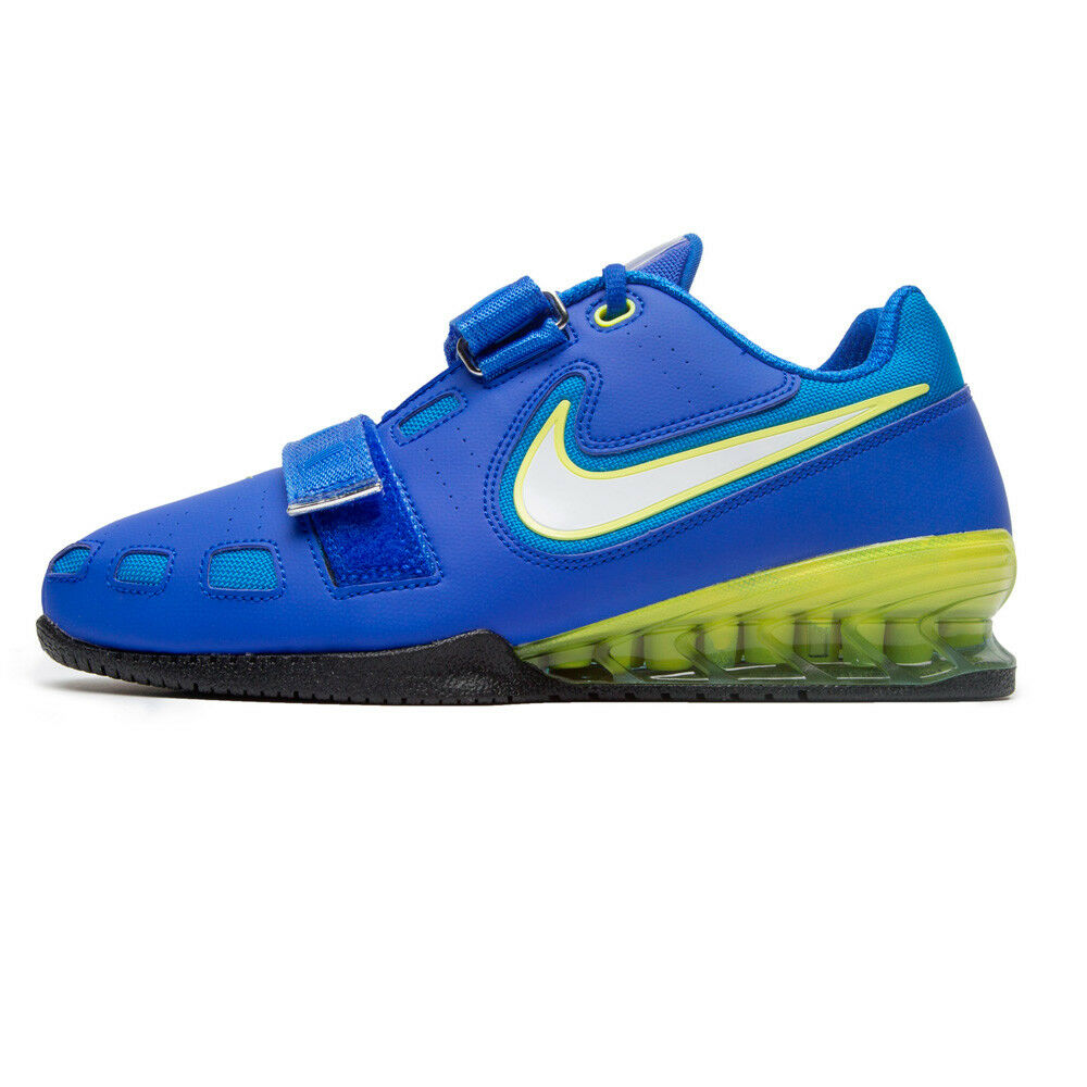 cc17023c08163 Nike Romaleos II Power Lifting Blue White Yellow 476927-417 New New New  Weightlifting bd5fcc