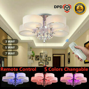 3-5-7-Way-LED-Crystal-Ceiling-Lights-Chandeliers-Lamp-Kitchen-Living-Bed-Room-UK