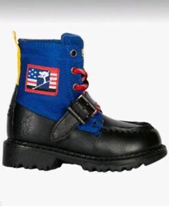 624811c1d77 Details about Polo Ralph Lauren Ranger High Boys Grade School Boots Shoes  Size 3