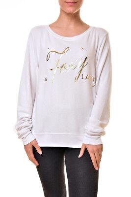 Wildfox Womens WFL190 16V Snow Bum Sweatshirt White Size XS