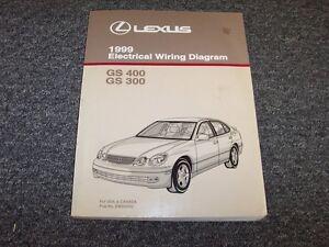 1999 lexus gs400 gs300 sedan electrical wiring diagram manual 3 0l rh ebay com 1999 Lexus GS400 1999 lexus gs300 repair manual pdf