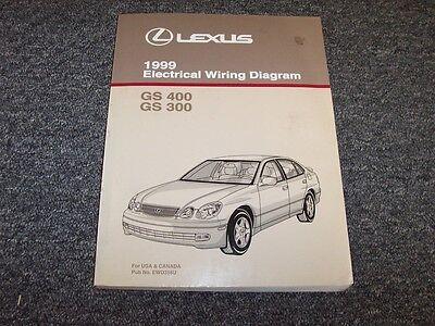 1999 Lexus GS400 & GS300 Sedan Electrical Wiring Diagram Manual 3.0L 4.0L  V8 | eBay | Gs400 Wiring Diagram |  | eBay